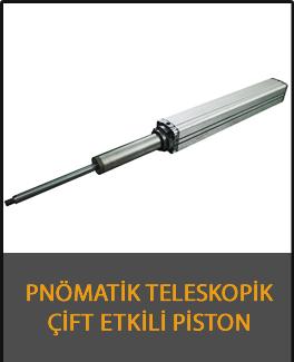 pnömatik teleskopik kademeli piston